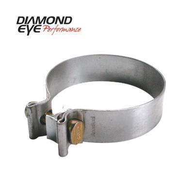 EXHAUST - EXHAUST CLAMPS - Diamond Eye Performance - Diamond Eye Performance PERFORMANCE DIESEL EXHAUST PART-3.5in. ALUMINIZED TORCA BAND CLAMP BC350A
