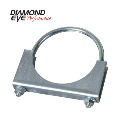 EXHAUST - EXHAUST CLAMPS - Diamond Eye Performance - Diamond Eye Performance PERFORMANCE DIESEL EXHAUST PART-4in. ZINC COATED U-BOLT SADDLE CLAMP 454000