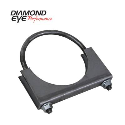 EXHAUST - EXHAUST CLAMPS - Diamond Eye Performance - Diamond Eye Performance PERFORMANCE DIESEL EXHAUST PART-3.5in. STANDARD STEEL U-BOLT SADDLE CLAMP 444001