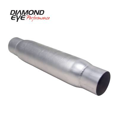 EXHAUST - EXHAUST MISCELLANEOUS - Diamond Eye Performance - Diamond Eye Performance PERFORMANCE DIESEL EXHAUST PART-4in. ALUMINIZED PERFORMANCE QUIET TONE RESONATOR 400405