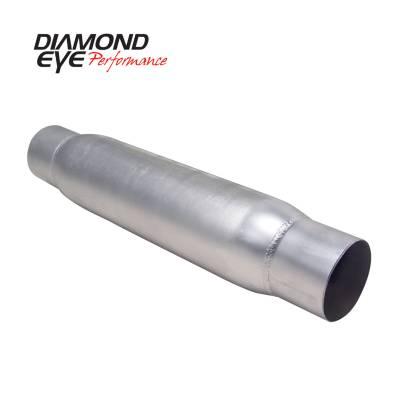 EXHAUST - EXHAUST MISCELLANEOUS - Diamond Eye Performance - Diamond Eye Performance PERFORMANCE DIESEL EXHAUST PART-4in. ALUMINIZED PERFORMANCE QUIET TONE RESONATOR 400405