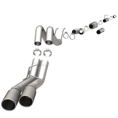 EXHAUST - EXHAUST KITS - MagnaFlow Exhaust Products - MagnaFlow Exhaust Products Sys C/B 08 Ford F-Series 6.4L duals 16987