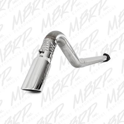 EXHAUST - EXHAUST KITS - MBRP Exhaust - MBRP Exhaust 4 Filter Back, Single Turn Down, T409 S6248TD