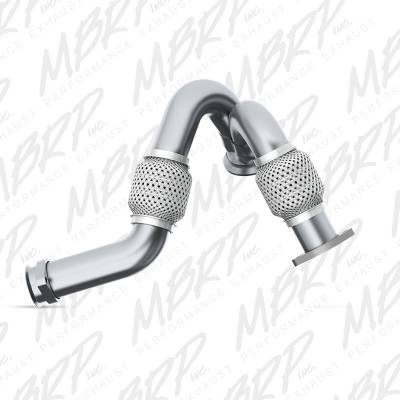 EXHAUST - EXHAUST MISCELLANEOUS - MBRP Exhaust - MBRP Exhaust Pipe,Turbo Up Ford Dual AL FAL2313