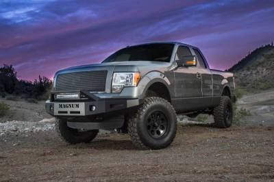 EXTERIOR ACCESSORIES - GRILLE GUARDS - Innovative Creations Inc - Innovative Creations Inc F150 & ECO BOOST - NOT RAPTOR NO WINCH OPTION W/ RT-SERIES LIGHT BAR FBM47FDN-RT