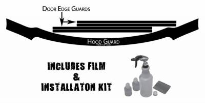 EXTERIOR ACCESSORIES - OTHER ACCESSORIES - Husky Liners - Husky Liners Hood and Door Edge Pre-cut Paint Protection Film Plus Installation Kit 07219