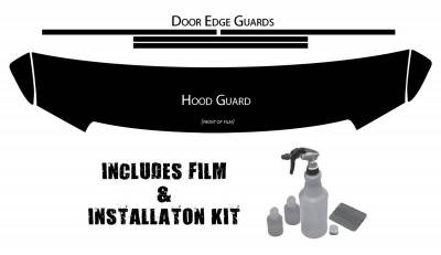 EXTERIOR ACCESSORIES - OTHER ACCESSORIES - Husky Liners - Husky Liners Hood and Door Edge Pre-cut Paint Protection Film Plus Installation Kit 07309