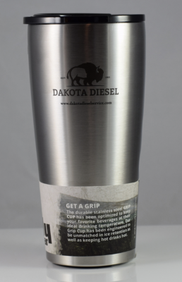 ACCESSORIES - Dakota Diesel Gear - Dakota Diesel Grizzly Tumbler 20oz. (Brushed Stainless)