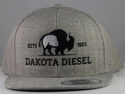 ACCESSORIES - Dakota Diesel Gear - Dakota Diesel Cloth Snap Back (Heather Grey)