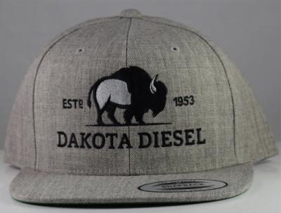 ACCESSORIES - Dakota Diesel Gear - Dakota Diesel Cloth Snap Back (Heather Grey)