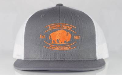 ACCESSORIES - Dakota Diesel Gear - Dakota Diesel Performance Hat grey/white/blaze orange