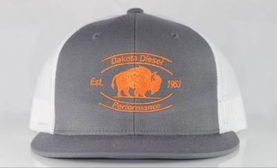 ACCESSORIES - Dakota Diesel Gear - Dakota Diesel Performance Hat grey/white/blaze orange